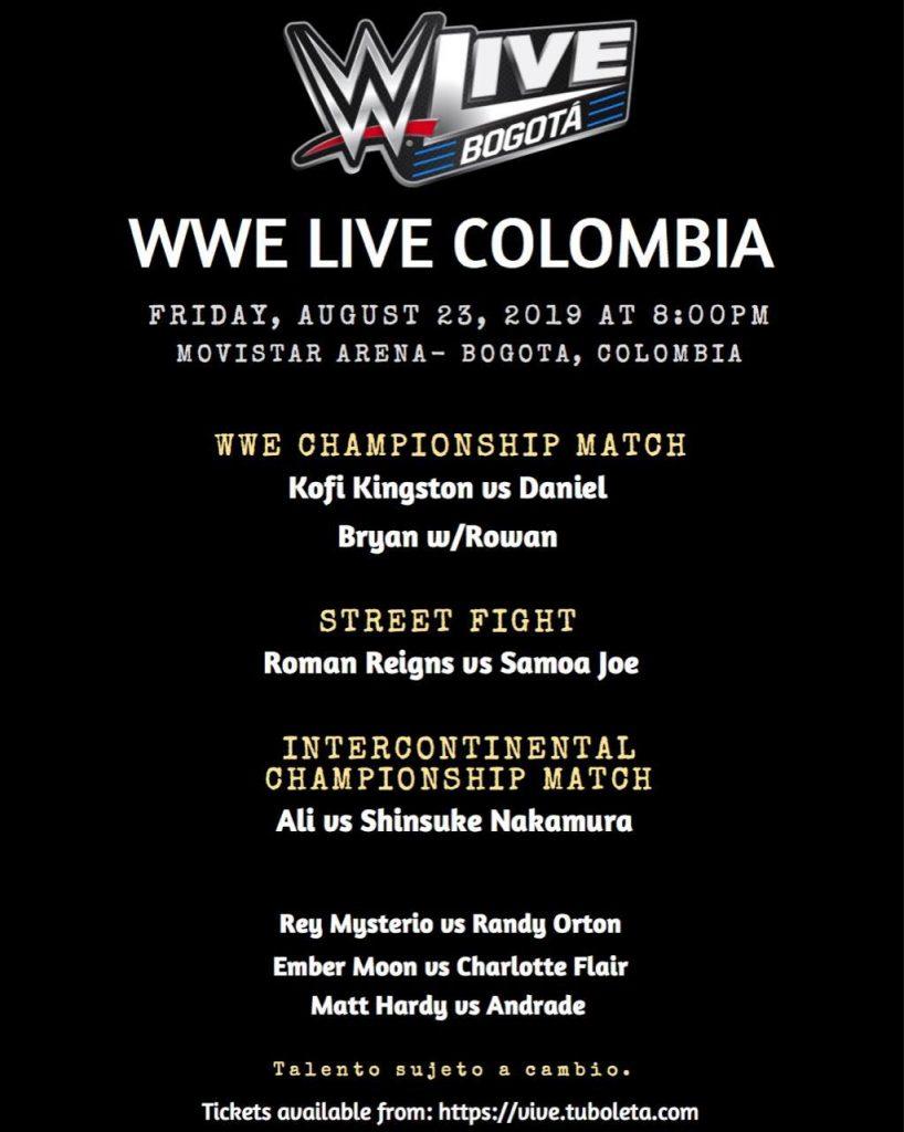 ¿Qué debemos esperar del primer WWE Live en Colombia?