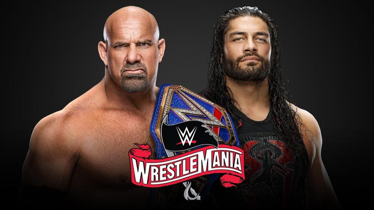 Resultado de imagen para Campeonato Universal de WWE Goldberg (c) vs. Roman Reigns