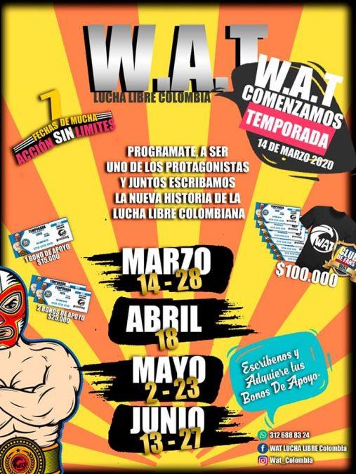 WAT Lucha libre Colombia inicia su temporada Acción sin limites