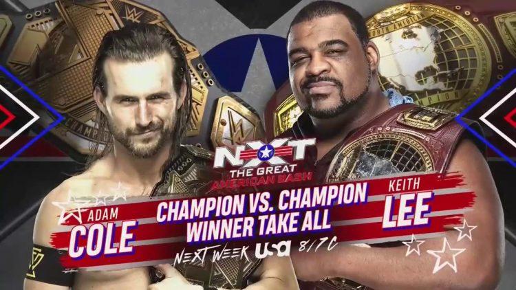 Cartelera actualizada NXT The Great American Bash