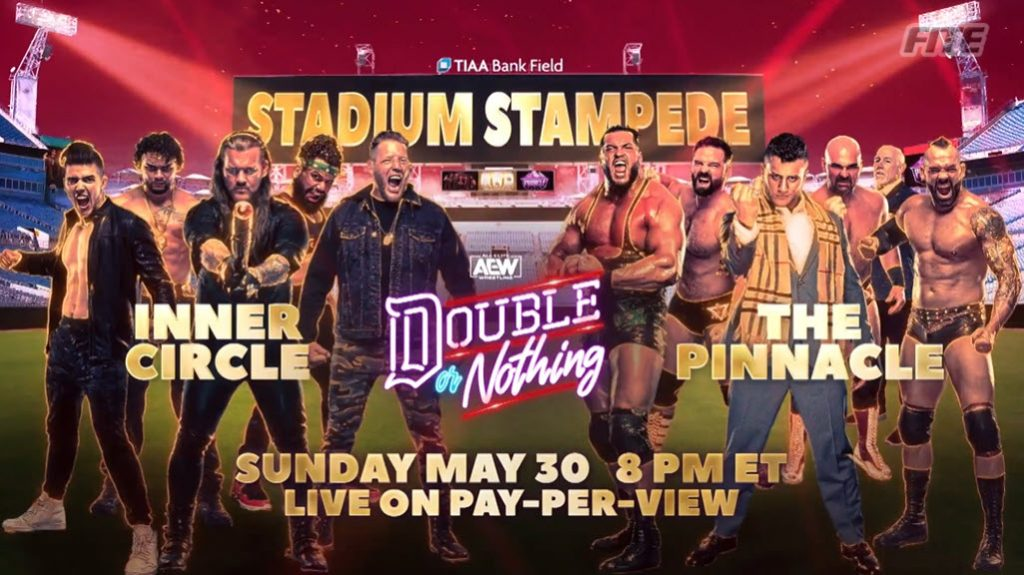 The Pinnacle se enfrentará a The Inner Circle en un Stadium Stampede Match en AEW Double or Nothing 2021