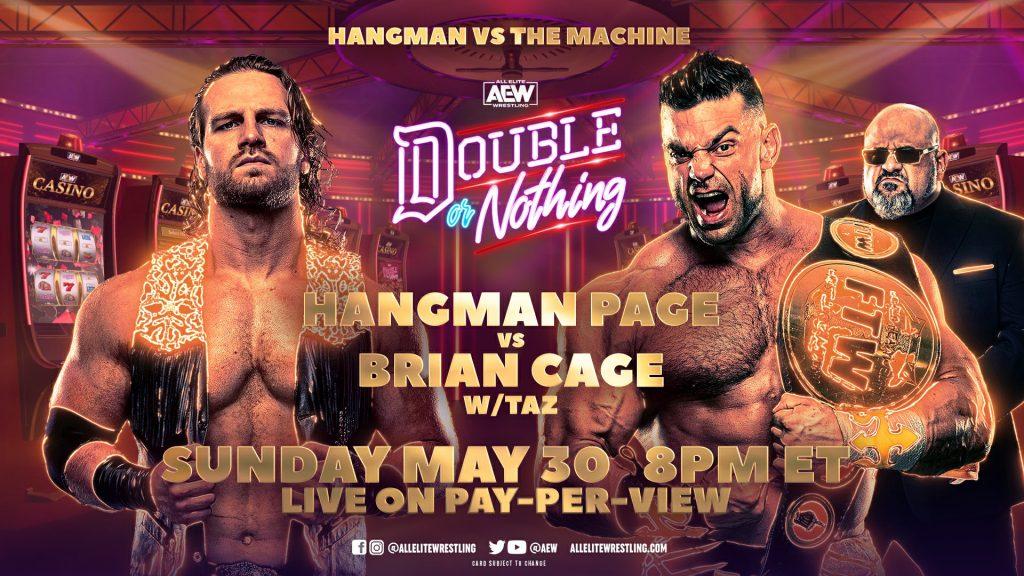 Hangman Page se enfrentará a Brian Cage en AEW Double or Nothing 2021