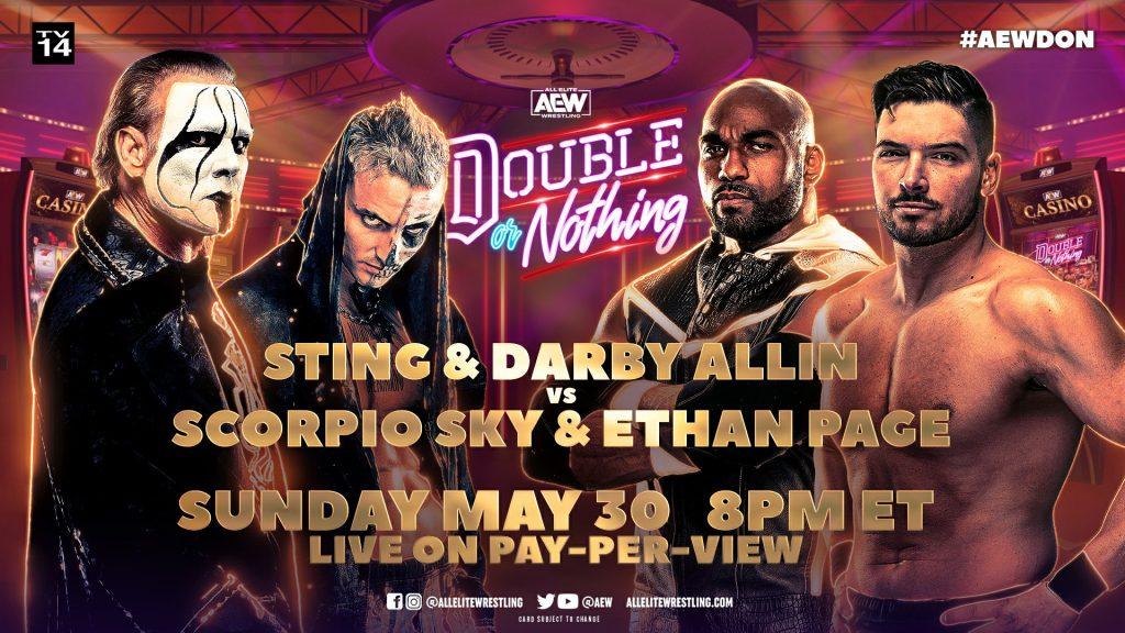 Sting y Darby Allin se enfrentarán a Scorpio Sky y Ethan Page en AEW Double or Nothing 2021
