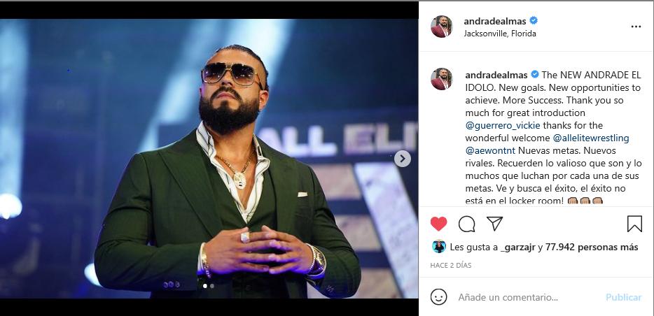 Andrade comenta sobre su debut en AEW