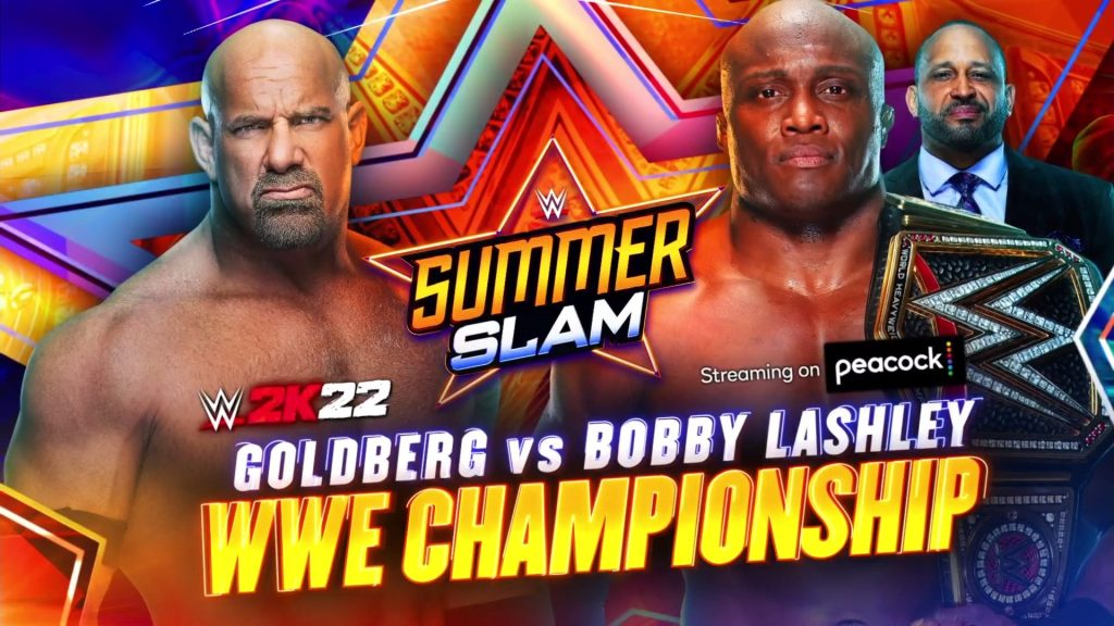 Goldberg se enfrentará a Bobby Lashley por el Campeonato de WWE en SummerSlam 2021
