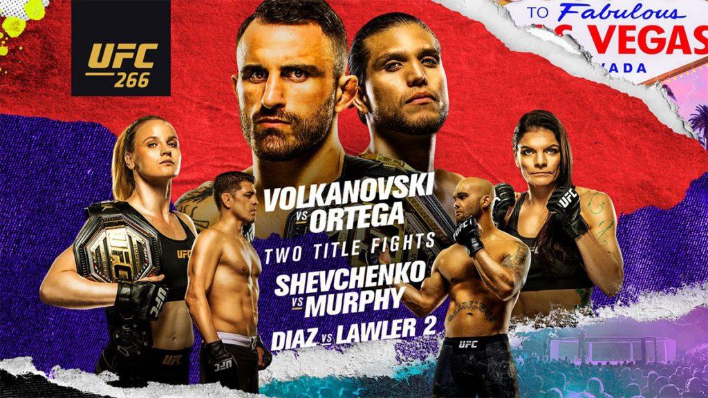 Resultados UFC 266: Volkanovski vs. Ortega