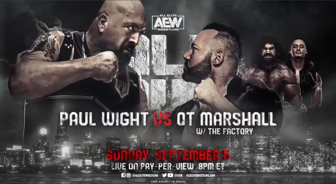 ▷ Apuestas AEW All Out 2021: Paul Wight vs. QT Marshall » TurnHeelWrestling